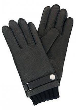Перчатки STEFANO RICCI. Цвет: черный