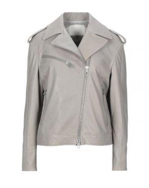 Куртка DROMe. Цвет: светло-серый