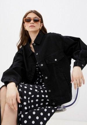 Куртка джинсовая Sela. Цвет: черный