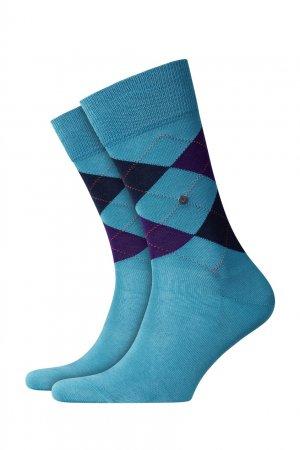 Хлопковые носки Manchester Burlington. Цвет: голубой