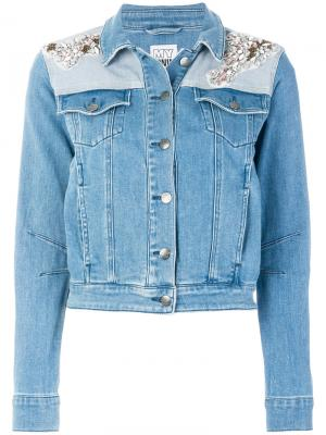 Декорированная джинсовая куртка Twin-Set. Цвет: синий