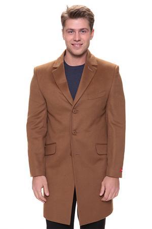 Пальто Donatto. Цвет: коричневый
