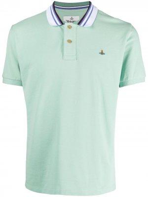 Рубашка поло с вышитым логотипом Vivienne Westwood. Цвет: зеленый