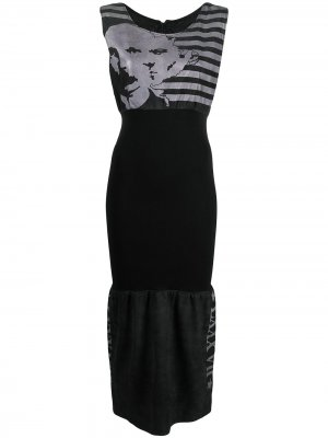 Платье миди в полоску Jean Paul Gaultier Pre-Owned. Цвет: черный