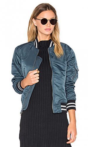 Куртка бомбер aviator MOTHER. Цвет: синий