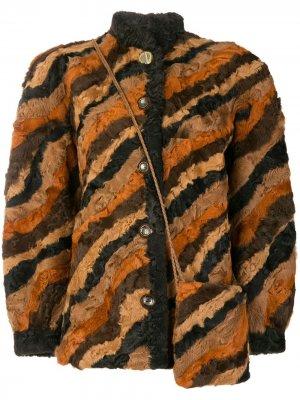 Пальто в стиле пэчворк Christian Dior. Цвет: коричневый