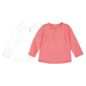 Комплект из 2 футболок с LaRedoute. Цвет: красный