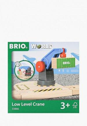 Конструктор Brio BRIO, вращающийся подъемный кран на магните с грузом, 13х11х13 см. Цвет: разноцветный