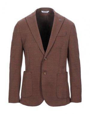 Пиджак BOTTEGA MARTINESE. Цвет: коричневый