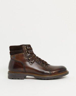 Коричневые кожаные походные ботинки -Коричневый Base London
