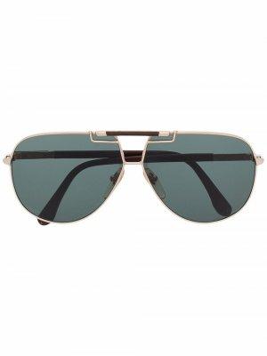 Солнцезащитные очки-авиаторы 1970-х годов Yves Saint Laurent Pre-Owned. Цвет: коричневый