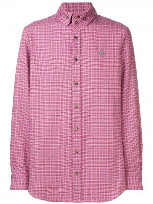 Рубашка с длинными рукавами в клетку Vivienne Westwood. Цвет: розовый