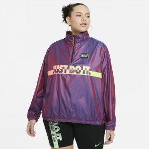 Женская куртка из тканого материала Sportswear (большие размеры) - Пурпурный Nike