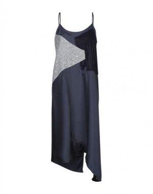 Платье до колена CLU. Цвет: темно-синий