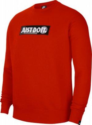 Свитшот мужской Sportswear Just Do It, размер 50-52 Nike. Цвет: красный