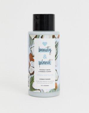 Кондиционер для придания объема волосам с кокосовым молоком и экстрактом цветков мимозы 400 мл Love Beauty and Planet Volume & Bounty-Бесцветный