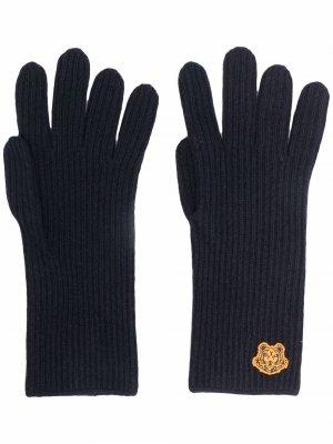 Перчатки в рубчик Kenzo. Цвет: синий