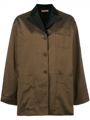 Куртка с заостренными отворотами Romeo Gigli Pre-Owned. Цвет: коричневый