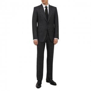 Шерстяной костюм Tom Ford. Цвет: серый