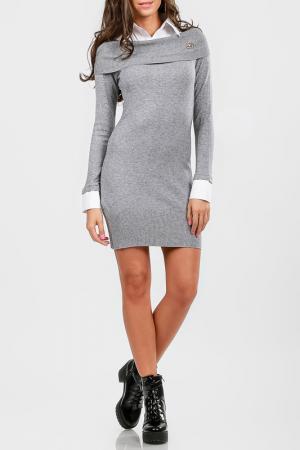 Платье Cocogio. Цвет: серый