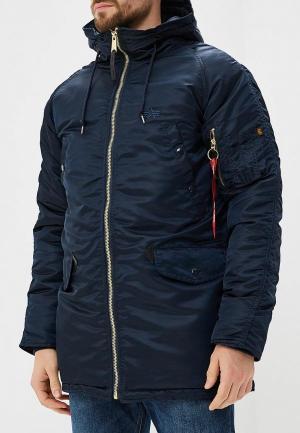 Куртка утепленная Alpha Industries N3-B PM. Цвет: синий