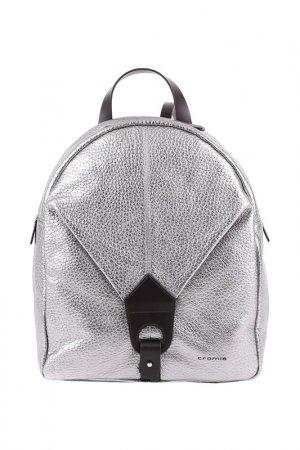 Рюкзак женский Cromia. Цвет: серебряный