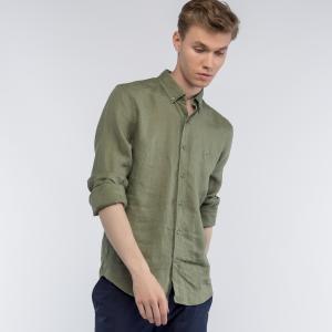 Рубашка Regular Fit Lacoste. Цвет: зеленый