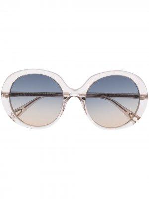 Солнцезащитные очки в массивной оправе Chloé Eyewear. Цвет: нейтральные цвета