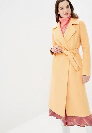 Пальто Glam Goddess. Цвет: оранжевый