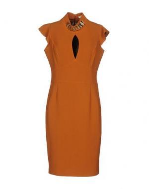Платье миди H2O ITALIA. Цвет: коричневый