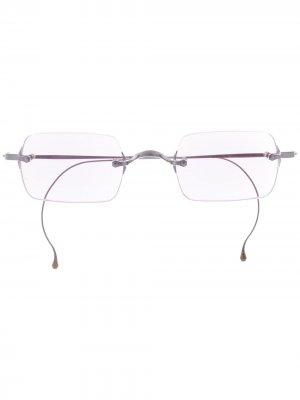 Солнцезащитные очки в квадратной оправе Garrett Leight. Цвет: серебристый