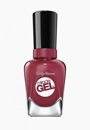 Гель-лак для ногтей Sally Hansen Miracle Gel, 496 Beet, Pray, Love, 14 мл. Цвет: розовый