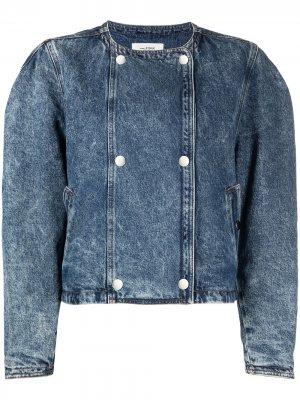 Джинсовая куртка на кнопках Isabel Marant Étoile. Цвет: синий