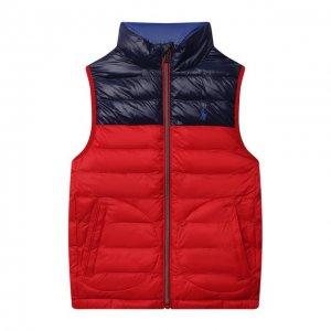 Утепленный жилет Polo Ralph Lauren. Цвет: красный