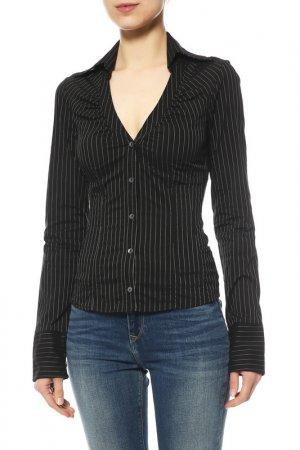 Блуза Paola Frani. Цвет: черный, белый, полоска
