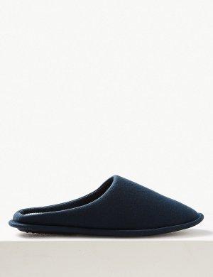 Тапочки мужские домашние Freshfeet™ M&S Collection. Цвет: темно-синий
