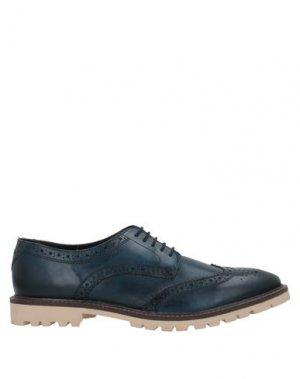 Обувь на шнурках BASE London. Цвет: темно-синий