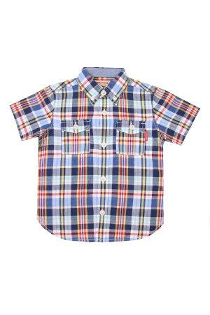 Рубашка в клетку для мальчика MIKI HOUSE. Цвет: разноцветный