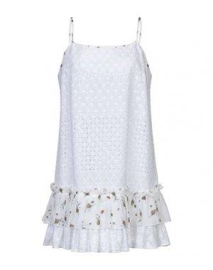 Короткое платье I'M ISOLA MARRAS. Цвет: белый