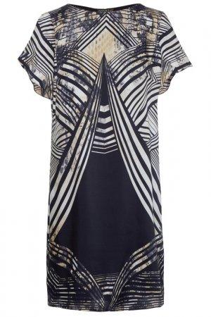 Платье из сатина Apart. Цвет: темно-синий, мультицвет