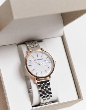 Часы с браслетом из нержавеющей стали -Серебристый Bellfield