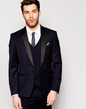 Приталенный пиджак-смокинг French Connection. Цвет: темно-синий