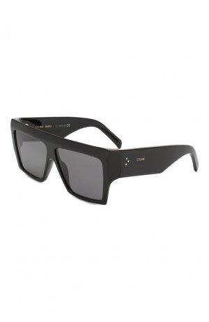 Солнцезащитные очки Celine Eyewear. Цвет: черный