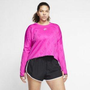 Женская беговая футболка с длинным рукавом Air (большие размеры) - Розовый Nike