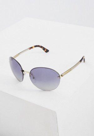 Очки солнцезащитные Prada PR 68VS ZVN3A0. Цвет: серебряный