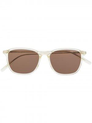 Солнцезащитные очки в прямоугольной оправе Montblanc. Цвет: белый