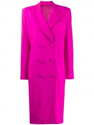 Двубортное пальто The Attico. Цвет: розовый