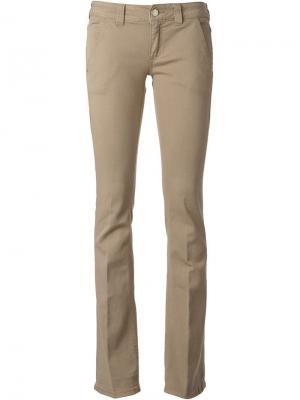 Расклешённые брюки-чинос Dondup. Цвет: телесный