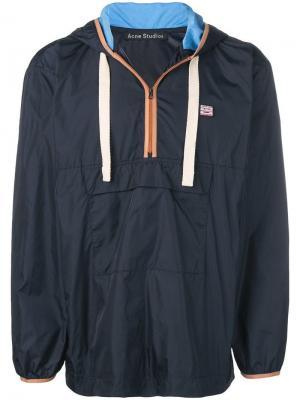Куртка-анорак Acne Studios. Цвет: синий