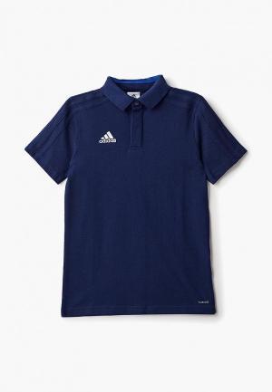 Поло adidas AD002EBCDAM9. Цвет: синий